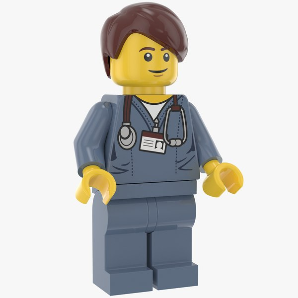 3D lego executive man