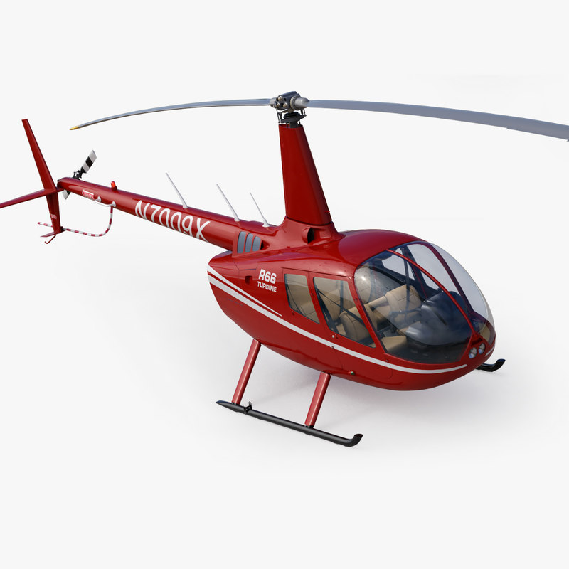 Helicopter Robinson R66 Turbine Red