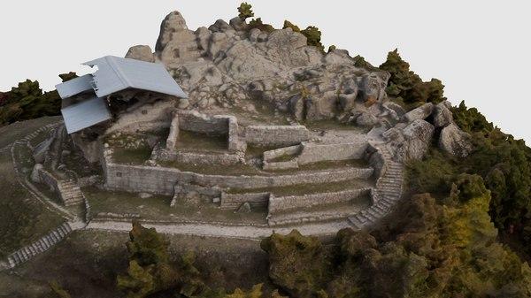3D tatul sanctuary thracian