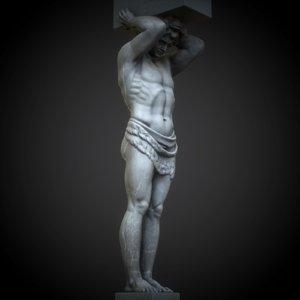 3D statue atlant model