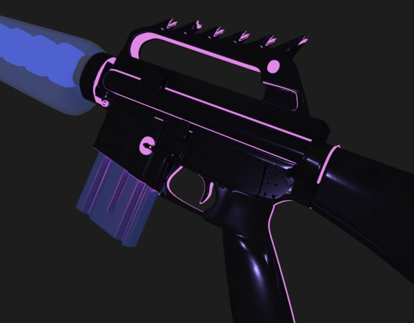 futuristic space gun 3D model