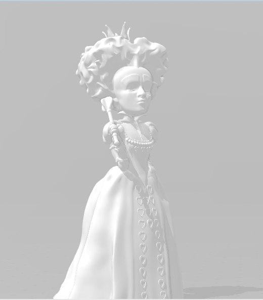 3D red queen alice wonderland