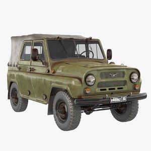 3D uaz-469 -