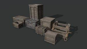 box chest model
