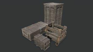3D model box chest