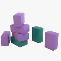 yoga blocks 3D model