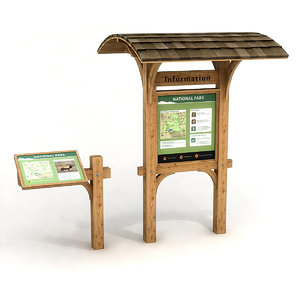 3D model information boards