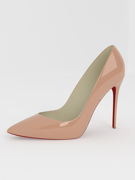 pointy pumps 3D model