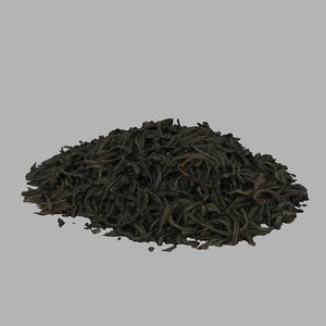 tea leaves black 3D