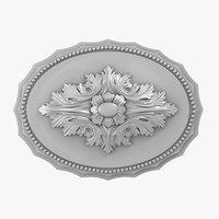 rose ceiling medallion m109 3D model