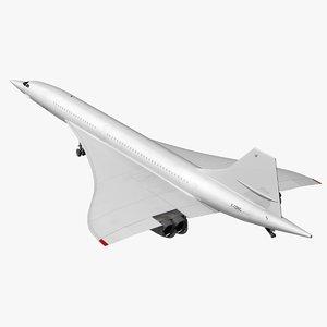 concorde white livery 3D model