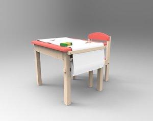 3D kid table model