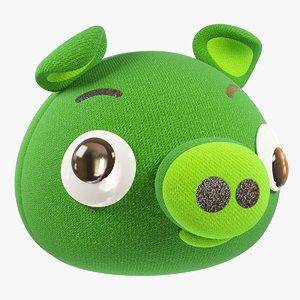 3D stuffed pig