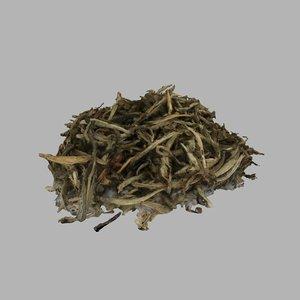 3D model tea leaves white