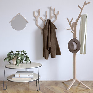 coat rack ambroise harto 3D model