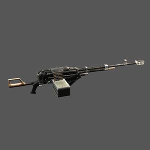 3D kord machine gun model