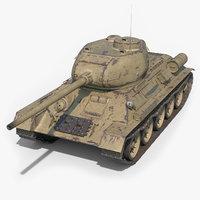 soviet tank t-34-85 3D