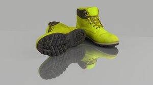 3D casual winter boots model