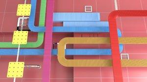 - production 3D model
