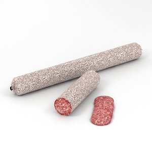 3D salami sausage meat model