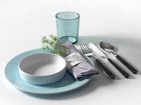 asparagus densiflorus napkin kitchen accessories 3D model