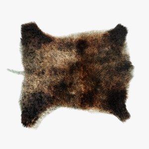 boar skin fur 3D model