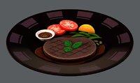 3D steak01 food
