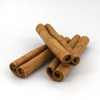 cinnamon sticks 3D