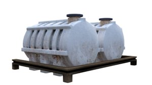 3D water container model