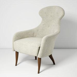 3D model eva armchair
