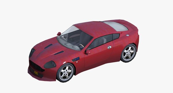 generic sports coupe 3D model