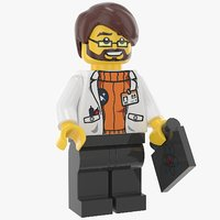 lego man scientist model