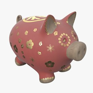tet pig decoration 3D