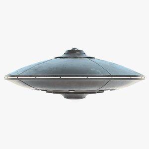 3D ufo pbr model