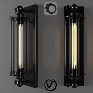 industrial wall light 3D model