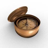 3D vintage compass