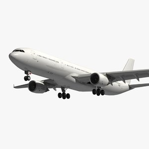 3D model airbus white livery a330
