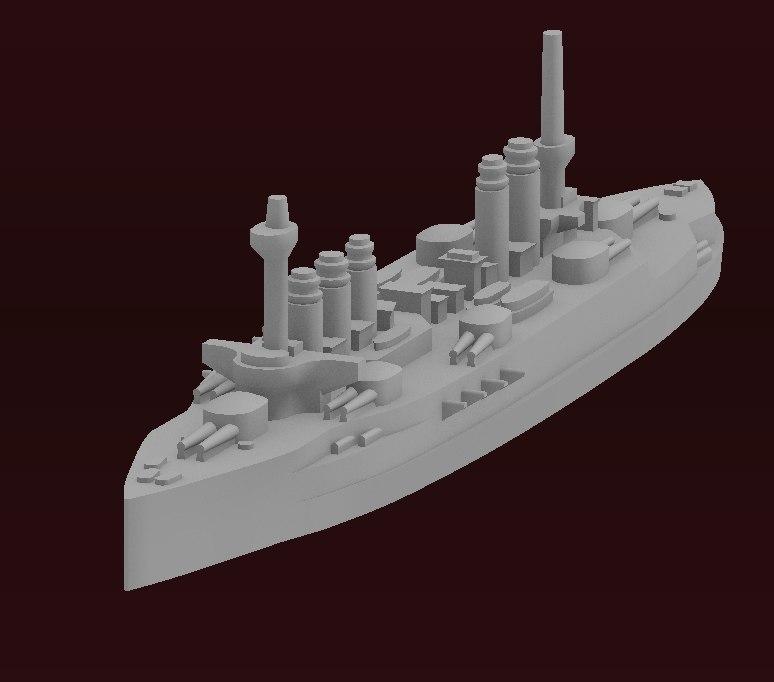 printing danton battleship class 3D model