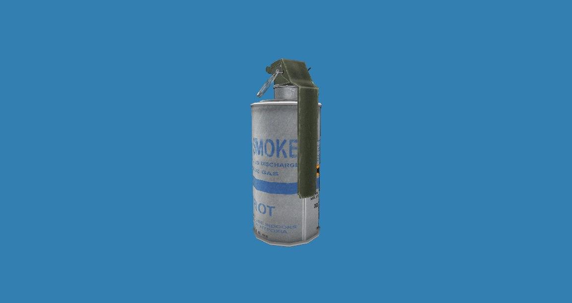 tear gas smoke grenade 3D