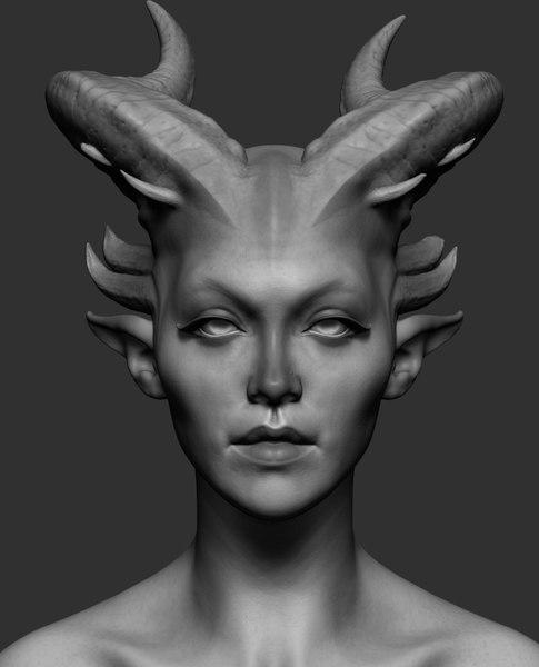 creature head ztl model