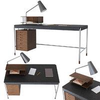 table society carl hansen 3D model
