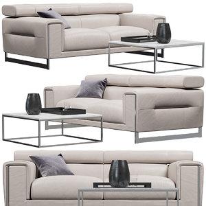 3D natuzzi etoile sofa model