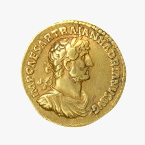 roman coin gold 3D