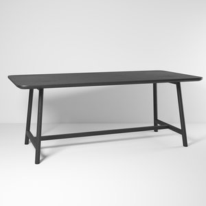 3D mandarin table model