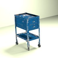 3D wheeled tool cabinet