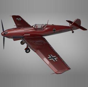 3D model messerschmitt bf 109 e