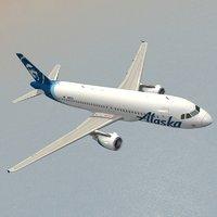 3D airbus alaska airlines