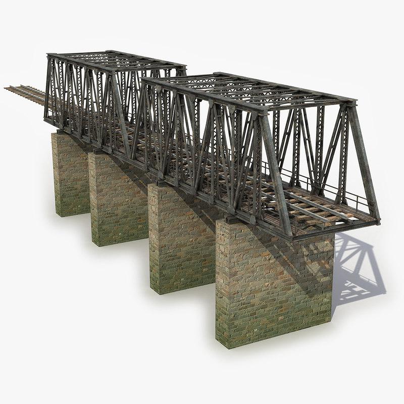 max modeled railway bridge