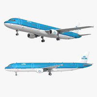 a321 klm royal dutch 3D model