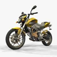 Bajaj Pulsar ns200 Low Poly Model